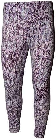3-12 Years Girls Printed Sports Leggings Lilac Snakeskin