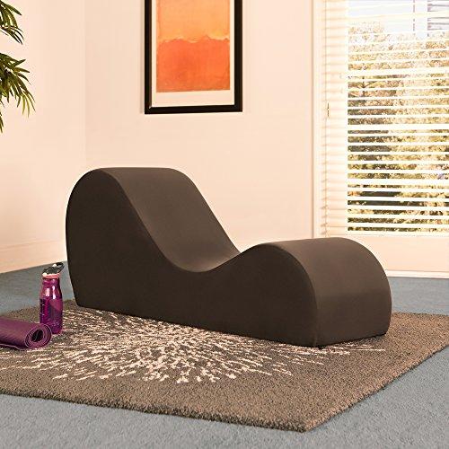 Liberator Chaise Lounge Yoga Chair - Espresso Micro-velvet