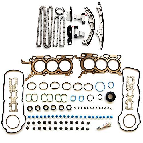 ECCPP TK4198 Timing Chain kit Head Gasket Set Fits for 2007 2008 2009 Ford Edge,2009 Ford Flex,2008-2012 Ford Taurus,2007 2008 2009 Lincoln MKZ,2007 Mazda CX-9