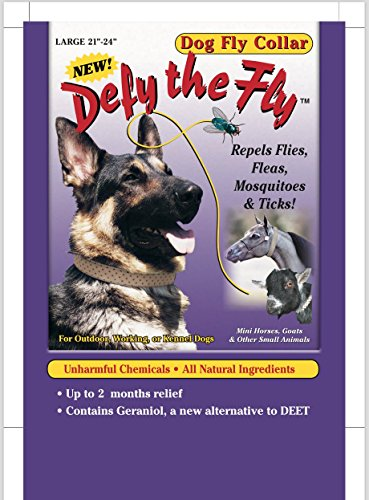 "Defy the Fly Dog Fly Collar - Large 21"" - 24""."