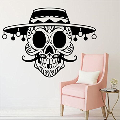 HANYI Happy Halloween Skeleton Background Decorated Wall Stickers Removable Decal Sticker Wallpaper (30.7x22.8'')