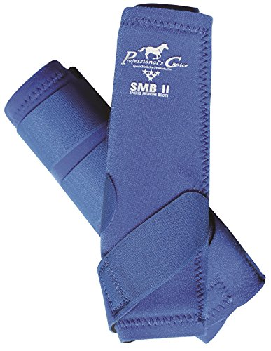 PROFESSIONAL'S CHOICE SMB II EQUINE SPORTS MEDICINE BOOTS BEST SELLING SMB ALL SIZES & COLORS (Royal Blue, Large) (Choice Sports Medicine)