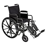 Best Choice Products Folding Lightweight Wheelchair w/Full Armrests and Elevating Legrests - Black