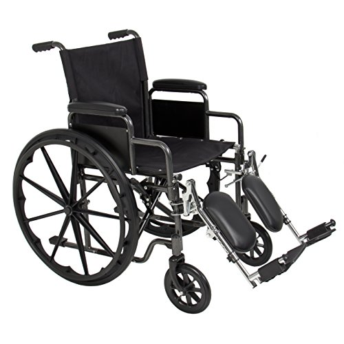 Best Choice Products® Folding Wheelchair Full Armrests & Elevating Legrests (Elevating Legrest)