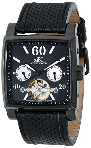 Adee Kaye Unisex ak9043-MIPB Wall Street Analog Display Automatic Self Wind Black Watch