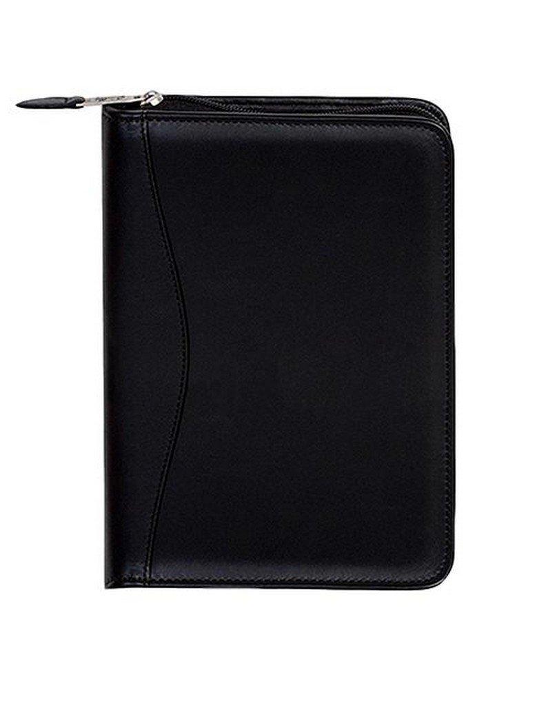 Scully Plonge Leather Zip Weekly Planner (Black)