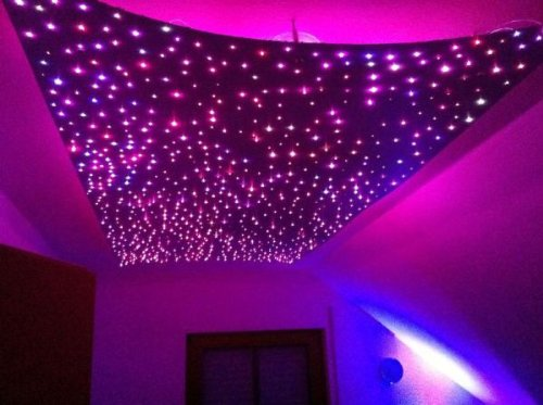 Sternenhimmel Decke sternenhimmel led set beleuchtung in glasfaser optik 400