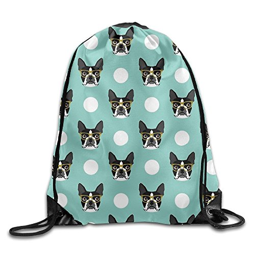 Home&apron Boston Terrier Bulldog CuteDrawstring Bag For Traveling Or Shopping Casual Daypacks School Bags Unisex (Bag Boston Baby)