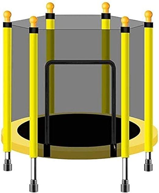 LKFSNGB Trampolines para niños y adultos con red de cerramiento para exteriores e interiores, plegable, para adultos y niños, con rodamiento de 552 libras, 250 kg, amarillo: Amazon.es: Jardín