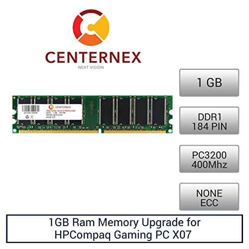 Click to buy 1GB RAM Memory for HPCompaq Gaming PC X07 (PC3200 NonECC) Desktop Memory Upgrade by US Seller - From only $34.51