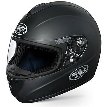Casco Moto integral Premier modelo Monza de fibra Mono Negro Mate MEDIUM