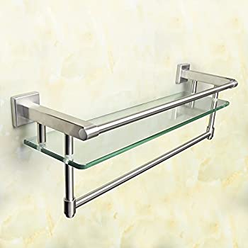 Delta Faucet 79711-SS Cassidy 24-Inch Glass Shelf with Bar ...