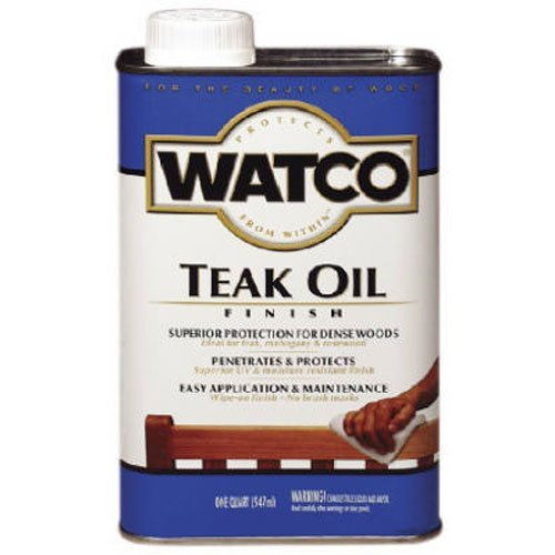 Watco A67141 Teak Oil Finish, Quart (Stain Outdoor Wood)