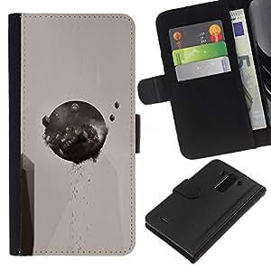 JackGot ( Resumen Ronda ) LG G3 la tarjeta de Crédito Slots PU Funda de cuero Monedero caso cubierta de piel