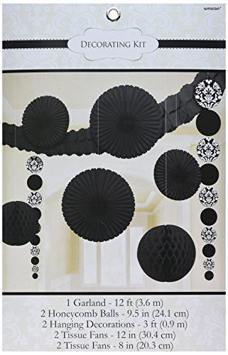 Amscan 249262 Decorating Kit, Assorted Sizes, Black -