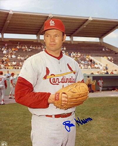 (Joe Hoerner (D.1996) Autographed /Original Signed 8x10 Color Photo w/ the St. Louis Cardinals)