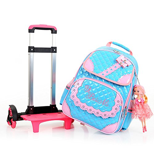 "HIGOGOGO PU Bowknot Trolley Bag, Size:17""13""8""(HWT), Girl..."
