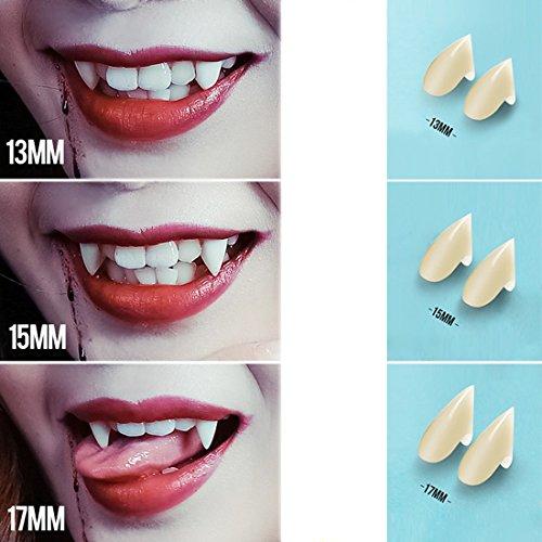 Alacos 3 Pairs Vampire Fake False Resin Teeth Cosplay Fangs Halloween Cosplay Props