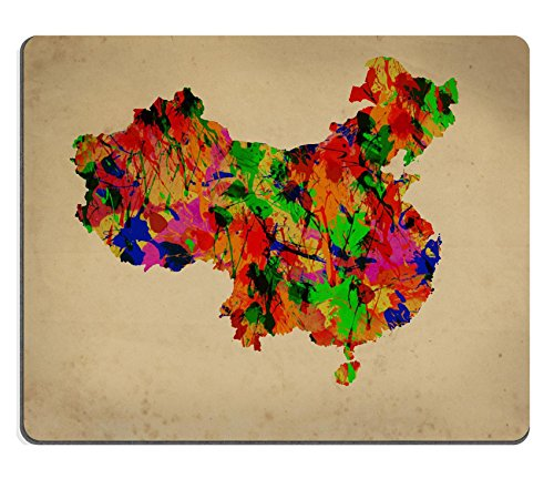 Contour Fine China (Luxlady Mousepad Watercolor art Map of China IMAGE 39723168)