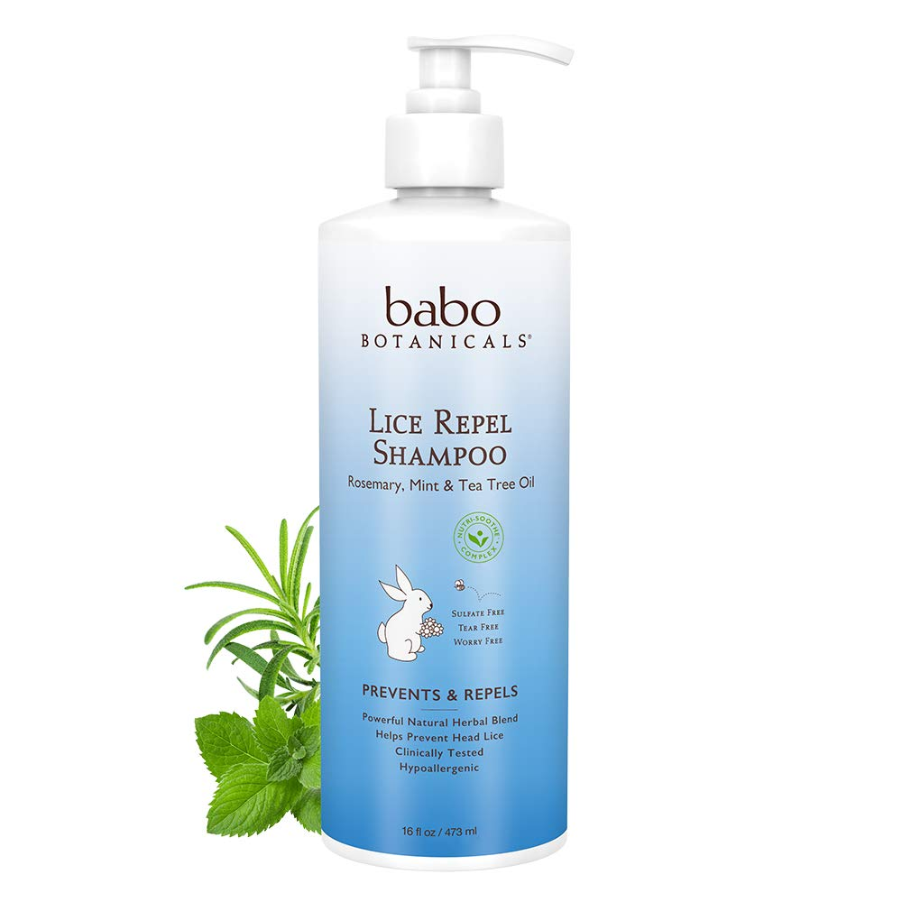 Babo Botanicals Lice Prevention Kids Shampoo, Rosemary, Mint & Tea Tree, 16 Fluid Ounce