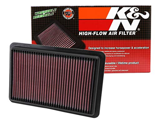 K&N engine air filter, washable and reusable:  2010-2019 Mazda L4 2.0/2.3/2.5L (CX-5, 3, 6, Atenza, Biante, Premacy, Axela) 33-2480 (N/a Cx Replacement)