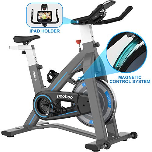 L NOW Indoor Exercise Bike Indoor Cycling Stationary Bike, Belt Drive with Heart Rate, Adjustable Seat and Handlebar…