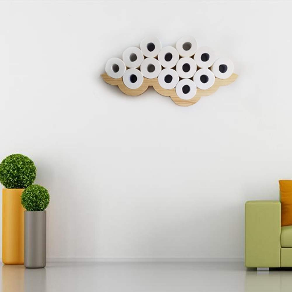 Gecious Cloud Toilet Paper Holder Wall Mount, Wood by Gecious (Image #5)