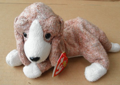 Brown Plush Dog (TY Beanie Babies Sniffer the Beagle Dog Stuffed Animal Plush Toy - 8 inches long - Light Brown and White)