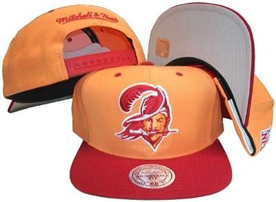 Tampa Bay Buccaneers Orange/Red Two Tone Snapback Adjustable Plastic Snap Back Hat / Cap