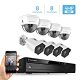 Amcrest 4MP Security Camera System, w/ 4K 8CH PoE NVR, (8) x 4-Megapixel 3.6mm Wide Angle Lens Weatherproof Metal Bullet & Dome POE IP Cameras, NV4108E-HS-IP4M-1026EW4-IP4M-1028EW4 (White) Review