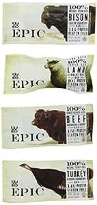 Epic Bar Sampler Pack- Bison, Turkey, Beef & Lamb (1 Bar of Each)