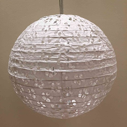 7 Holiday TM 9-Piece Lace Look Paper Lanterns 8-Inch Hollow Paper Lanterns (Lace Paper Lanterns)