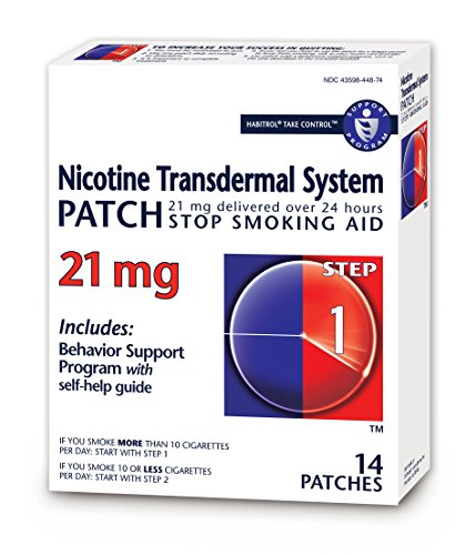 Habitrol Nicotine Transdermal System Patch   Stop Smoking Aid   Step 1  21 Mg    14 Patches  2 Week Kit