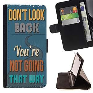 Dragon Case - FOR LG Nexus 5 D820 D821 - don't look back - Caja de la carpeta del caso en folio de cuero del tir¨®n de la cubierta protectora Shell