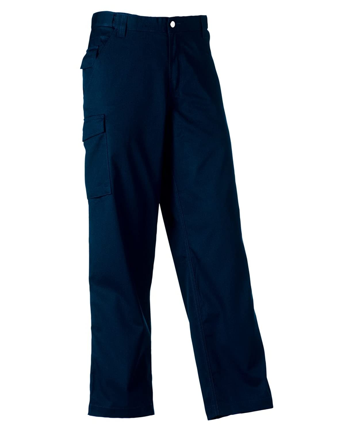 Russell Polycotton Twill Trousers (Reg) Colour=French Navy Size=44""
