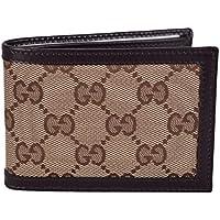 b99f60f30d02 Gucci Men's Beige Brown Canvas Mini GG Guccissima Bifold Wallet