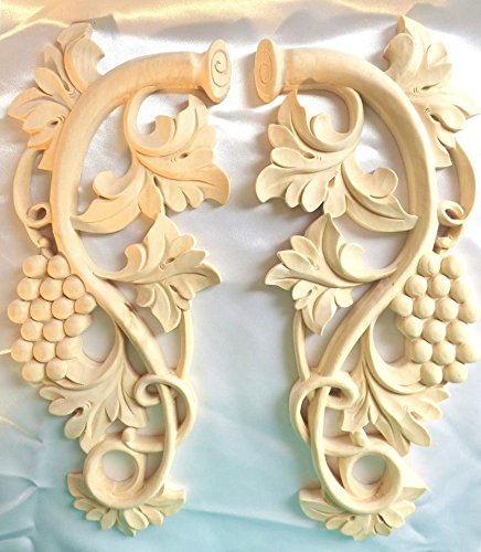 "Zakros Designs 13-1/2""H X 5-3/4""W X 3/4""TH, Hand Carved S..."
