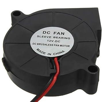 Yongse Impresora 3D 12V DC 50mm Blow radial del ventilador de ...