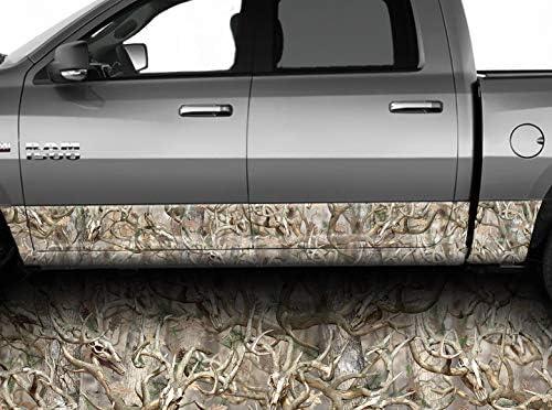 """Speed Demon Hot Rod Shop オブリテレーション バックスカル カモフラージュ ロッカー ラップ ロッカー パネル グラフィック デカール ラップ キット トラック SUV用 12""""x30 ブラウン MK-OBSRKR"""