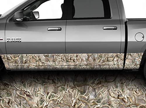 American Flag Distressed Wood Rocker Panel Graphic Decal Wrap Kit Truck SUV