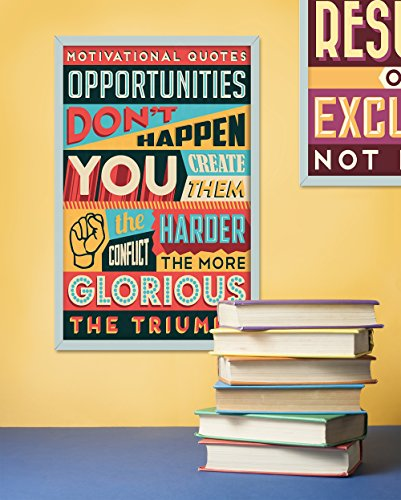 Motivational Quotes Posters For Classroom Or College Posters. Positive And Inspirational Wall Poster Arts. Great Christmas Present & Home Decorating Idea, Birthday Gifts Or Gifts For Men