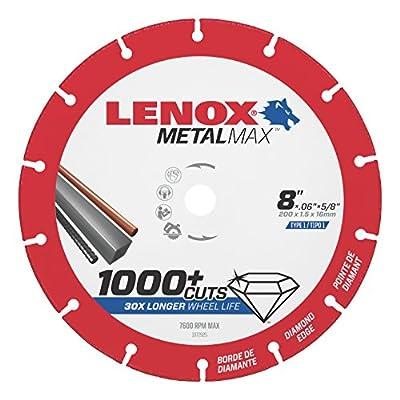 "Lenox Tools 1972925 METALMAX Diamond Edge Cutoff Wheel, 8"" x 5/8"""