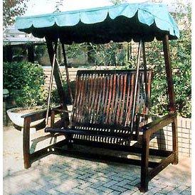デラックススイングラブベンチ[ガーデン用屋根付きスィングベンチ] ノーブランド品 B07BBW96G3