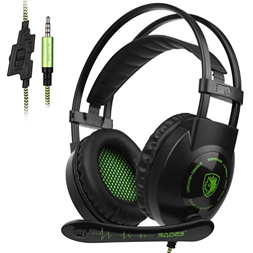 SADES SA801 Gaming Headset Headphone 3.5mm Wired with Mic Volume Control for PC/Xbox (801 Stereo)