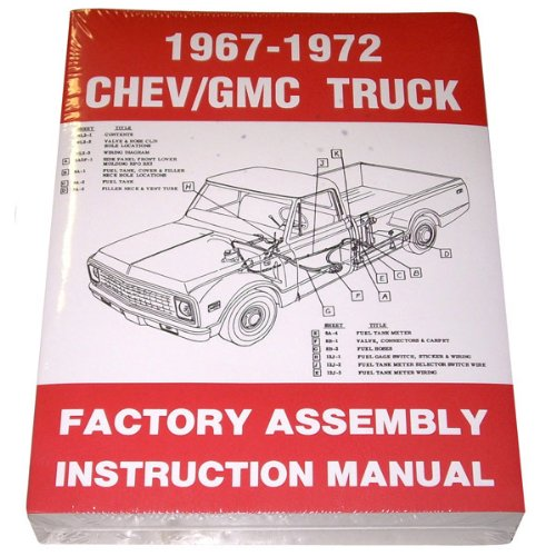 1967 68 69 70 71 72 Chevy Truck Factory Assembly Manual Chevrolet GMC Pickup Truck Suburban Blazer Jimmy ()