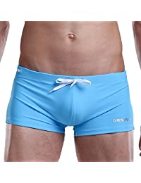 Amurleopard Men's Swimming Trunks Shorts with Front Tie