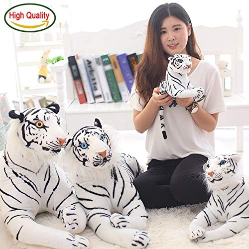 Minian 1PC Giant White Tiger Stuffed Toy - Baby Lovely Big Size Tiger Plush Doll Soft Pillow Children (40cm) -
