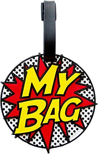 My Bag Comic Book 3-d Luggage Tag