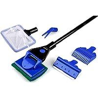 5 in 1 Aquarium Cleaning Kit Fish Tank Brush Glass Wiping Long Handle Tool