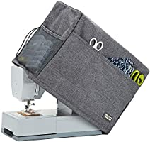 HOMEST Quilted Sewing Machine Dust Cover with Storage Pockets, Compatible with Most Standard Singer and Brother Machines,...